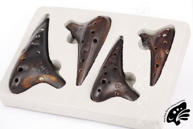 風雅陶笛四枝套裝(12孔中音C、12孔高音C、12孔高音F、12孔高音G)燻燒(專業型)連盒