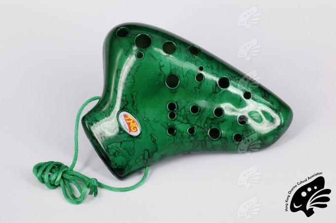 TNG陶笛之家三管中音C塑膠(綠色)(正)